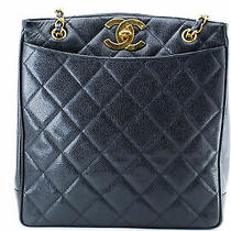 Auth Chanel Cc Matelasse Cavier Chain Shoulder Tote Bag From Japan 0866 Photo