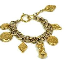 Auth Chanel Chain Bracelet Metal Gold (Bf055986) Photo