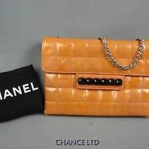 Auth Chanel Chocobar Salmon Pink Patent Leather Piano Small Bag Very Good Photo