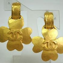 Auth Chanel Clover Earring Metal Gold(bf063216) Photo
