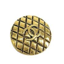 Auth Chanel Coco Broach Metal Gold (Bf076459) Photo
