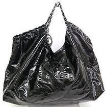 Auth Chanel Coco Cabas Chain Hand Bag Enamel Black (Bf068231) Photo