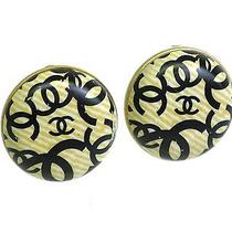 Auth Chanel Coco Clip Earrings Metal Beige/gold (Bf075926) Photo