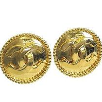 Auth Chanel Coco Clip Earrings Metal Gold (Bf076470) Photo
