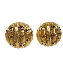Auth Chanel Coco Clip Earrings Metal Gold (Bf088125) Photo