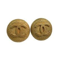 Auth Chanel Coco Clip Earrings Metal Gold (Bf088323) Photo