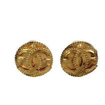 Auth Chanel Coco Clip Earrings Metal Gold (Bf088435) Photo