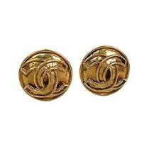 Auth Chanel Coco Clip Earrings Metal Gold (Bf088443) Photo