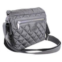 Auth Chanel Coco Cocoon Black Quilted Nylon Small Shoulder Bag Crossbody 20835 Photo
