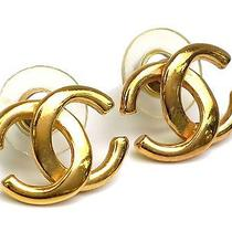 Auth Chanel Coco Earrings Metal Gold (Bf075197) Photo