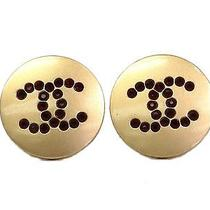 Auth Chanel Coco Earrings Metal Gold/black (Bf078026) Photo