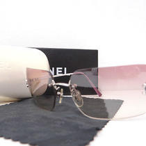 Auth Chanel Coco Logo  No Frame Sunglasses Violet With Case 4017 D 20110001000 7 Photo