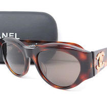 Auth Chanel Coco Logo Tortoiseshell Sunglasses Brown With Case 15100601200 7 Photo