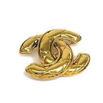 Auth Chanel Coco Mark Broach Metal Gold(bf064617) Photo