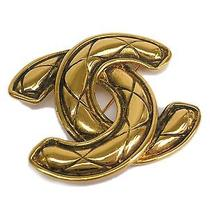Auth Chanel Coco Mark Broach Metal Gold(bf067028) Photo