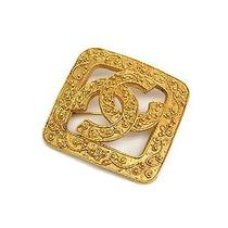 Auth Chanel Coco Mark Broach Metal Gold (Bf067487) Photo