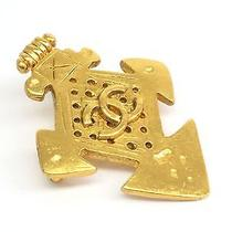 Auth Chanel Coco Mark Broach Metal Gold (Bf070501) Photo