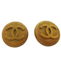 Auth Chanel Coco Mark Clip Earrings Metal Gold (Bf087345) Photo