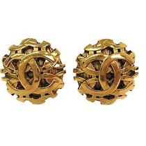 Auth Chanel Coco Mark Clip Earrings Metal Gold (Bf087367) Photo
