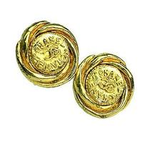 Auth Chanel Coco Mark Earring Metal Gold(bf053437) Photo