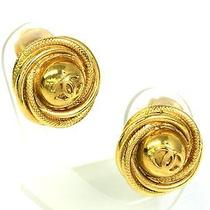 Auth Chanel Coco Mark Earring Metal Gold (Bf055752) Photo