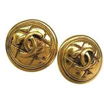 Auth Chanel Coco Mark Earring Metal Gold (Bf057265) Photo