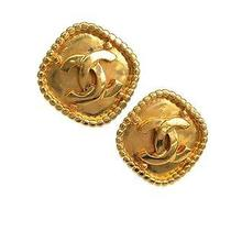 Auth Chanel Coco Mark Earring Metal Gold (Bf057269) Photo