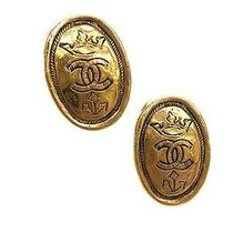 Auth Chanel Coco Mark Earring Metal Gold (Bf057270) Photo