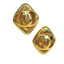 Auth Chanel Coco Mark Earring Metal Gold (Bf057274) Photo