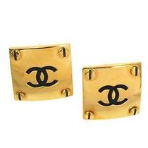 Auth Chanel Coco Mark Earring Metal Gold (Bf058015) Photo