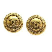 Auth Chanel Coco Mark Earring Metal Gold (Bf058134) Photo