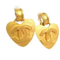 Auth Chanel Coco Mark Earring Metal Gold (Bf058535) Photo
