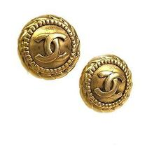 Auth Chanel Coco Mark Earring Metal Gold (Bf058576) Photo