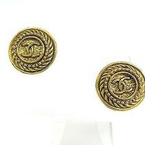 Auth Chanel Coco Mark Earring Metal Gold(bf061236) Photo