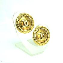 Auth Chanel Coco Mark Earring Metal Gold (Bf061617) Photo