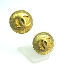 Auth Chanel Coco Mark Earring Metal Gold (Bf061621) Photo
