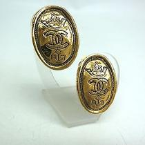 Auth Chanel Coco Mark Earring Metal Gold (Bf061622) Photo