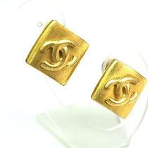 Auth Chanel Coco Mark Earring Metal Gold (Bf061623) Photo
