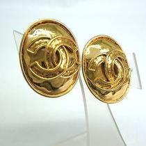 Auth Chanel Coco Mark Earring Metal Gold (Bf061624) Photo