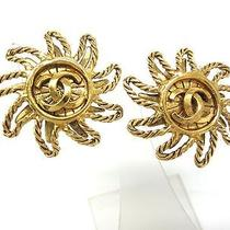 Auth Chanel Coco Mark Earring Metal Gold (Bf061626) Photo