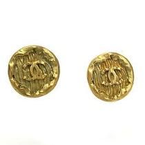 Auth Chanel Coco Mark Earring Metal Gold(bf062319) Photo