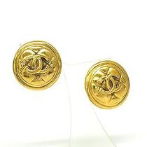 Auth Chanel Coco Mark Earring Metal Gold(bf062320) Photo