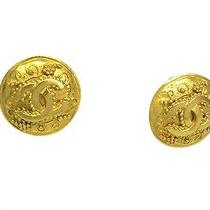 Auth Chanel Coco Mark Earring Metal Gold(bf062323) Photo