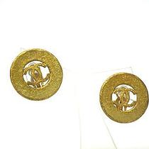 Auth Chanel Coco Mark Earring Metal Gold(bf062325) Photo