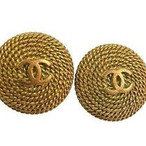 Auth Chanel Coco Mark Earring Metal Gold(bf063221) Photo