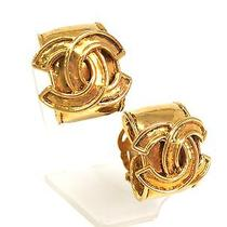 Auth Chanel Coco Mark Earring Metal Gold(bf064130) Photo