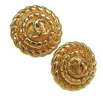 Auth Chanel Coco Mark Earring Metal Gold(bf064139) Photo
