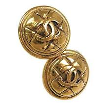 Auth Chanel Coco Mark Earring Metal Gold(bf064219) Photo