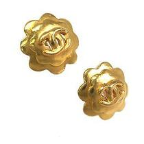 Auth Chanel Coco Mark Earring Metal Gold(bf064226) Photo
