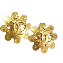 Auth Chanel Coco Mark Earring Metal Gold(bf065175) Photo
